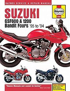suzuki gsf600 650 1200 bandit fours 95 to 06 haynes service rh amazon com Suzuki Bandit Series 2000 Suzuki Bandit