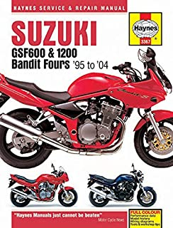 suzuki gsf600 650 1200 bandit fours 95 to 06 haynes service rh amazon com Suzuki Bandit 400 Cafe Racer suzuki bandit 400 vc service manual