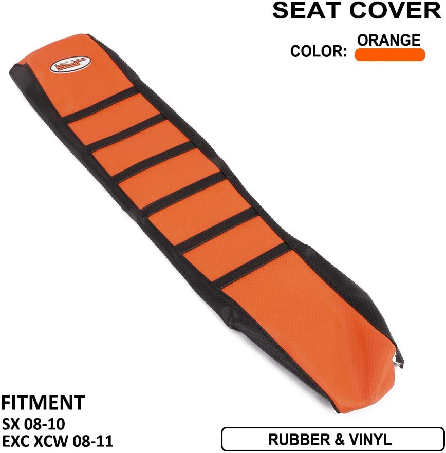AnXin Gripper Soft Motorcycle Seat Cover Skin for KTM 85 105 SX 125 EXC 125 150 SX XC 200 EXC XC-W 250 SX SX-F XC-W XC 300 EXC XC XC-W 350 SX-F 450 EXC 450 SX SX-F XC-W 500 EXC XC-W 525 SX Orange