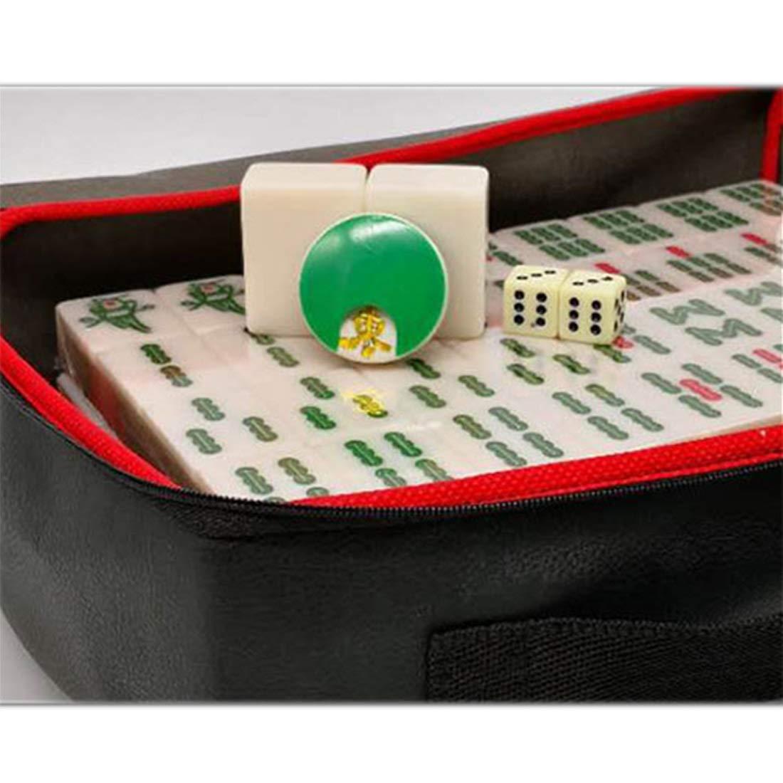Hexiansheng Mahjong portable Mah Mahjong en Bambou Classique Mah Mahjong des ménages ; Présent Tissu Doux en Feutre pour Nappe de Mahjong ; Plusieurs Tailles Disponibles ( Taille   B )