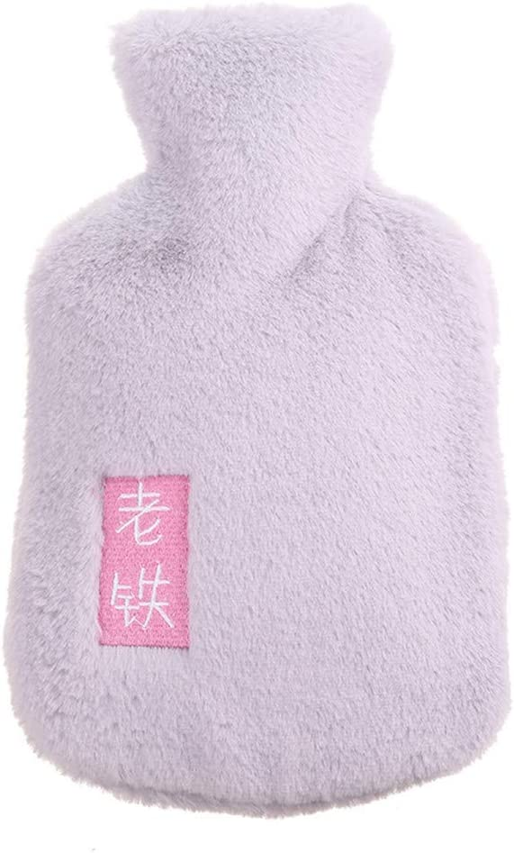 Plush Warm Soft Hot Water Bottle,Portable Hot Water Bag,Hot & Cold Therapy, Great for Menstrual Pain Relief for Women,Arthritis, Headaches, Kids and Gifts,Chinese Characters