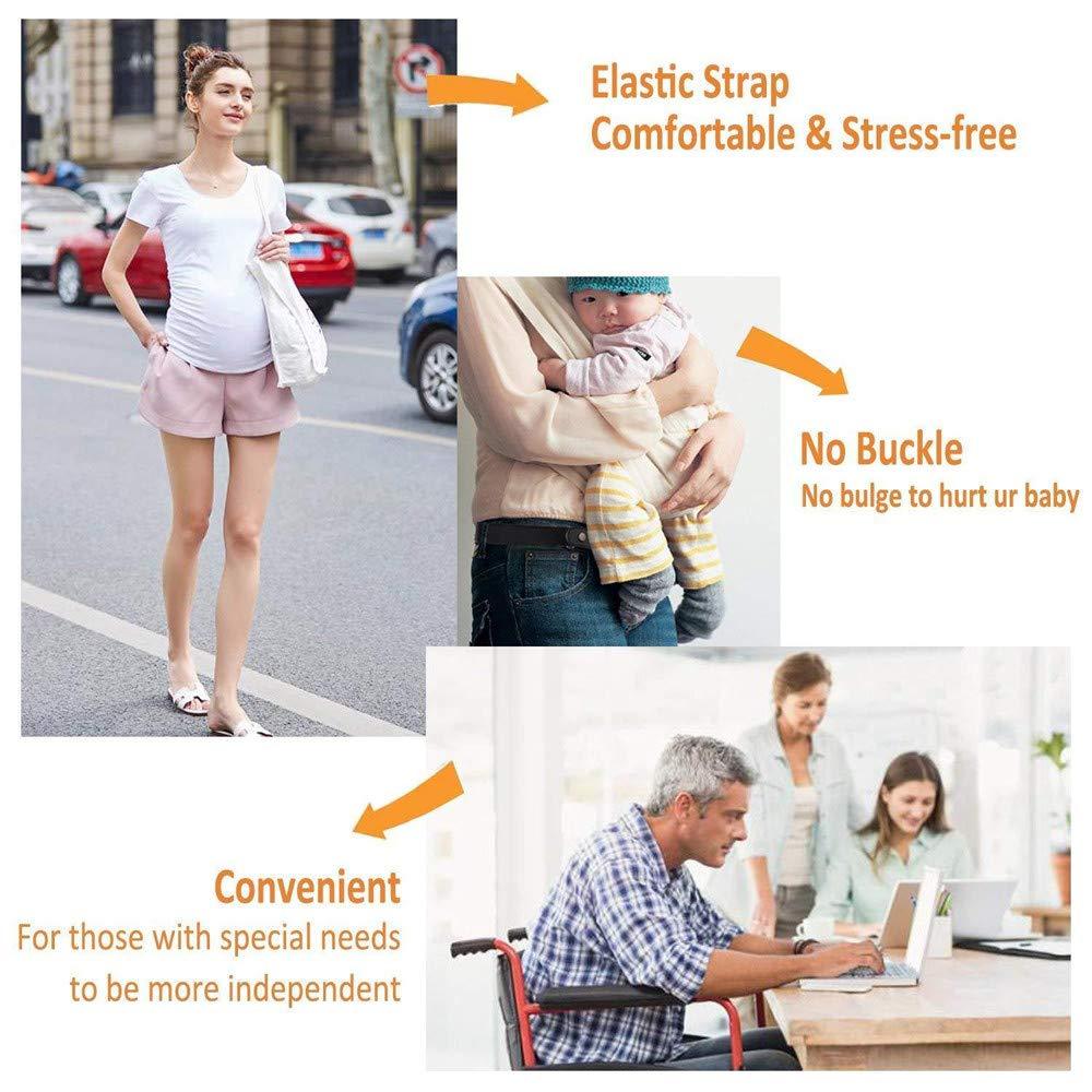 Buckle-Free Elastic Belt Women Men Comfortable Invisible Waist Belt No Bulge No Hassle Slim Fitting for Jeans Short Pants Skirt Dresses (Multicolor) by Codiak-Costume (Image #5)