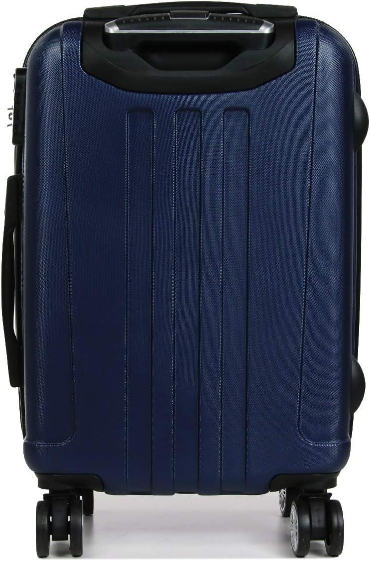 Bleu L135 56 X 40 X 23cm LIVAN Valise Cabine /à 4 Roues 360/° Polycarbonate et Abs Son Vanity Case Rigide et Ultra l/éger