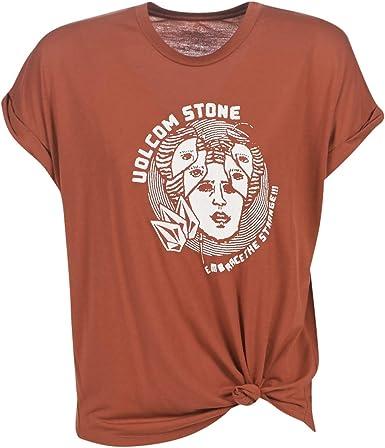Volcom Camisa Breaknot Short Sleeve - Mujer Camisa - Auburn: Amazon.es: Ropa y accesorios
