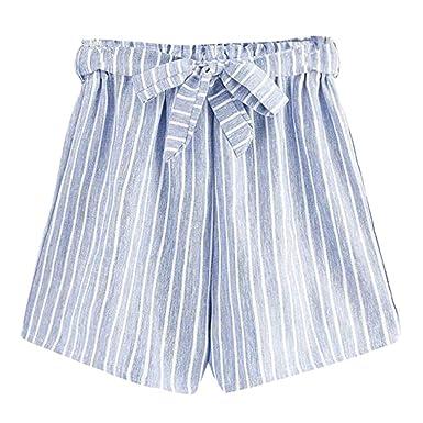 Felz Pantalones Cortos Mujer Pantalones Cortos Para Mujer Pantalones Cortos De Playa De Verano Pantalones Sueltos De Cintura Media A Rayas Ocasionales Pantalones Cortos Deportivos Para Yoga Jogging Creeo Com Br