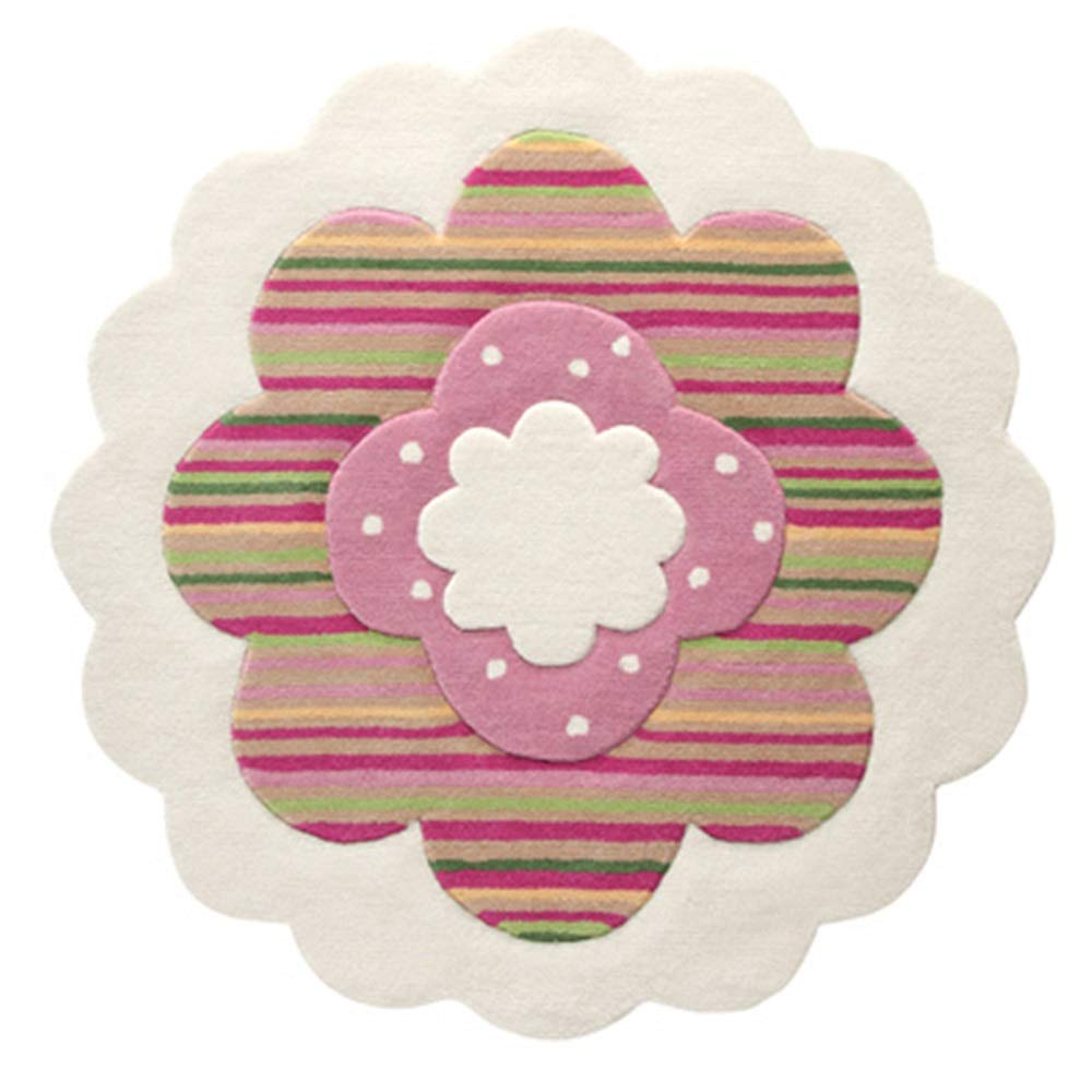 Unbekannt ZHIRONG Schöne Blume Modellierung Teppich Kinderzimmer Teppich Wohnzimmer Sofa Teppich Meditation Matte Yoga Mat (größe : 100CM)