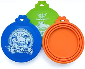 Hippo Paw Silicone Can Cover Lids Universal Fit for All Dog and Cat Can Sizes