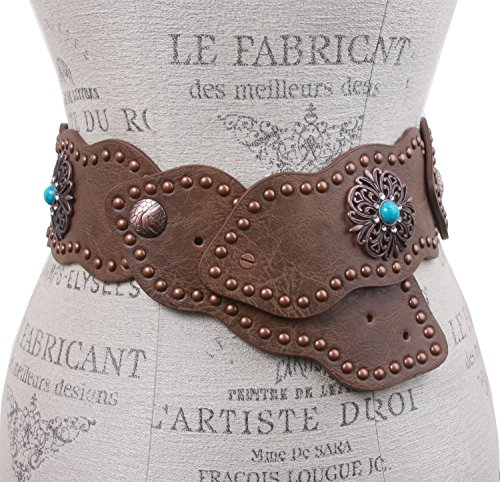 Wide Link Turquoise Studded Leather product image