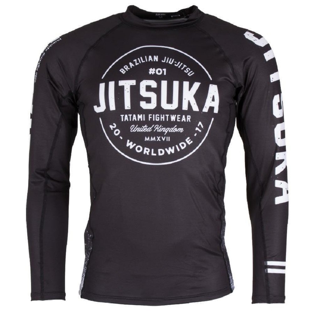'Tatami Jitsuka Rash Guard BJJ MMA Compression Rash Guard No Gi Grappling Shirt Men's Shirt Tatami Fightwear