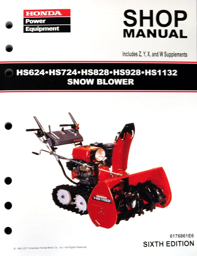 Amazon.com: Honda HS624 HS724 HS828 HS928 HS1132 Snow blower ... on