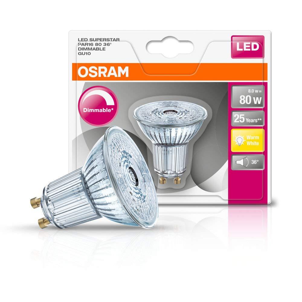 Osram LED Superstar Reflektor dimmbar Par16 GU10 4,6W = 50W Halogen Warmweiß