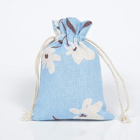 50pcs algodón arpillera Bolsas, Bolsas de la joyería cordón Sacos para Candy Fiesta de la Boda favores de San Valentín del Arte DIY y Navidad,Type1,10x14cm: Amazon.es: Hogar