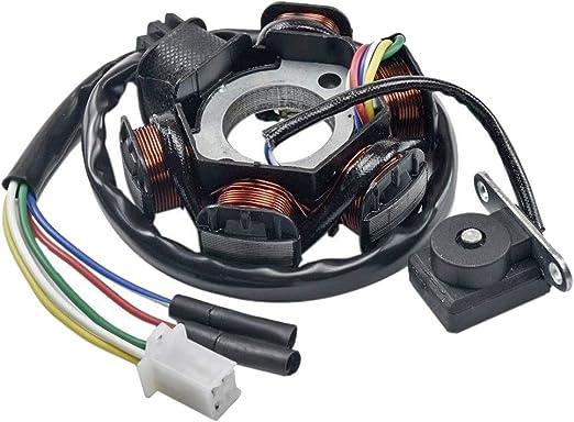 Chanoc Complete Electric Stator Coil Wiring Harness Magneto for 4 Stroke Taotao Zongshen Lifan 150cc 200cc 250cc ATV Buggy Go Kart Dirt Pit Bike