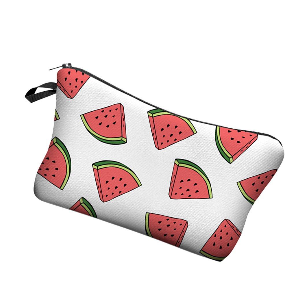 Mode Reise Make-up Tasche Organizer Kosmetiktasche Kulturbeutel Voller Druck - Wassermelone, eine Größe eine Größe Generic