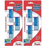 Pentel Hi-polymer Block gsSfk Eraser, Large, 3 Count (2 Pack)