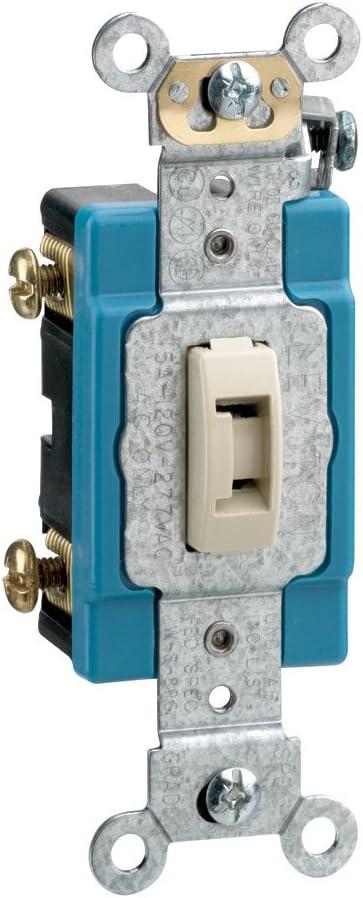 Ivory Leviton 20-Amp Toggle Switch 1221-2IL