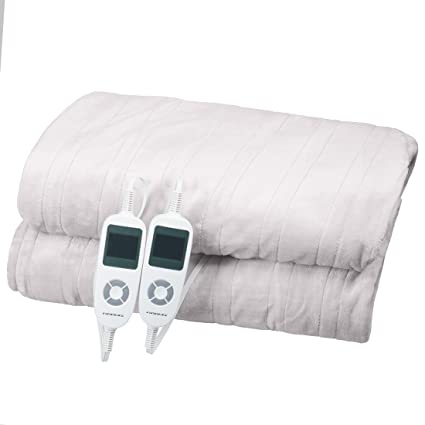 Heated Mattress Pad, 100% Cotton, Electric Heating Bed Toppers With EasySet  Control And