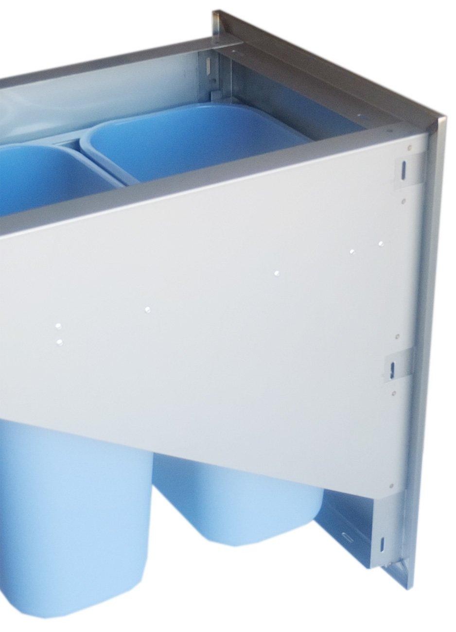 SUNSTONE BA-TRD1724 Beveled Frame Drawer with Two Trash Bins, 17 by 24'' by SUNSTONE (Image #3)