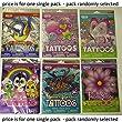 Savvi girls theme temporary tattoos - 50 assorted designs x 1 single pack