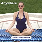 Aqua 3-In-1 Roll-Up Pool Float, Padded Mat For
