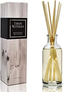 Urban Naturals Crisp White Linen Reed Diffuser Gift Set | with Citrus, Ozone, Ylang-Ylang, Lilies & Sandalwood Scent Notes for a Fresh, Clean Cotton Smelling Home | Made in The USA – Great Deal!