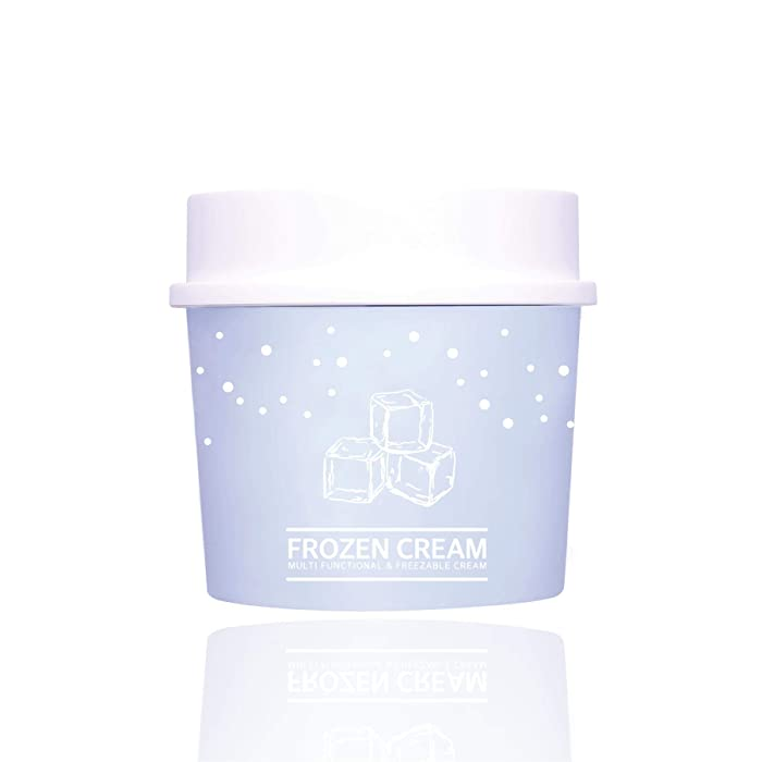 VUE DE PULANG Face Hydrating Moisturizer Frozen Cream 3.38oz, Cooling and Soothing Hydrating Gel Cream, for Sensitive Skin, Redness Relief, Hydration and Wrinkle Care, Tightening Pore Effect