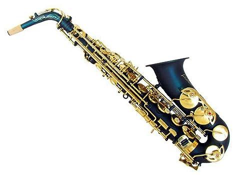 XIE@ Azul oro del cuerpo mate llave saxofón mi bemol saxofón alto ...