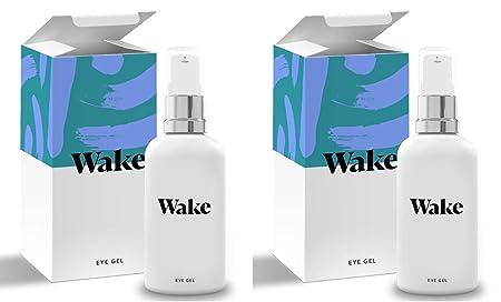 Wake Skincare Eye Gel – Hydrating Eye Serum for Puffy Eyes, Dark Circles, Eye Bags, Crows Feet and Wrinkles Vitamin E Collagen – 30ml Anti Ageing Eye Cream 2 Pack