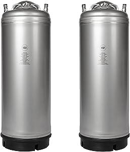 Two New 5 Gallon Ball Lock Kegs - Single Handle + Free O-Ring Kit