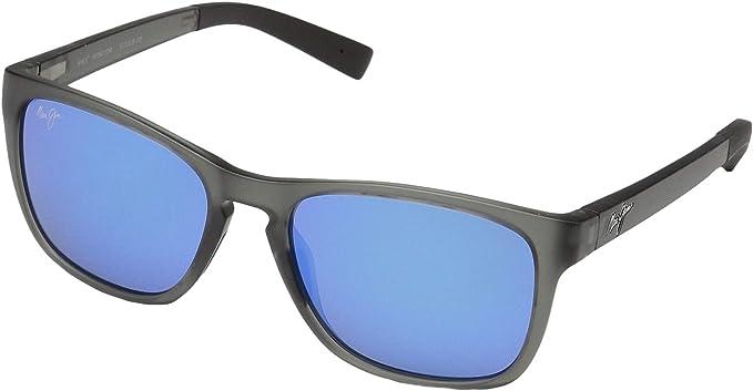 64fc63e9c0e Maui Jim Sunglasses   Longitude 762-11M   Matte Translucent Grey  Rectangular Frame, Polarized