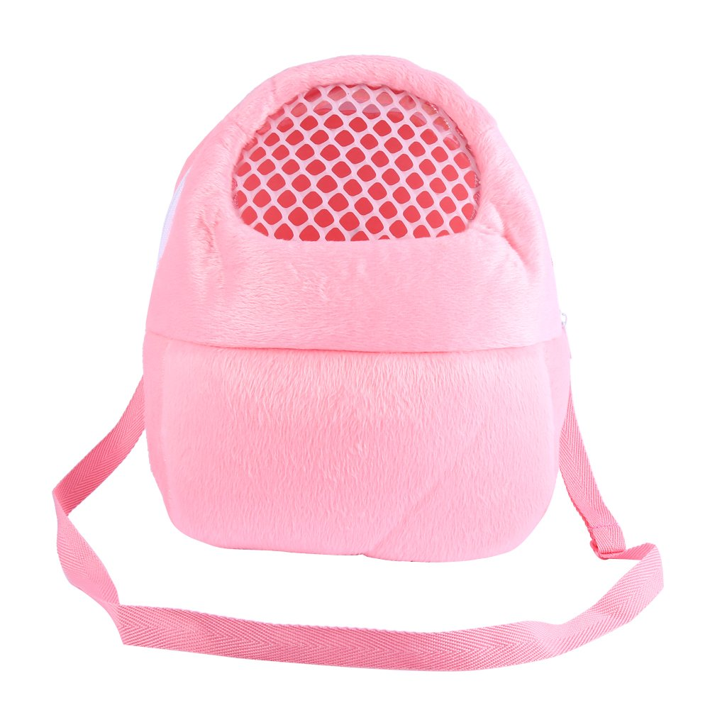 Pet Carrier Bag Pet Pocket, 21x25cm Hamster Carrier Breathable Pocket Hamster Ferret Travel Sleeping Hanging Bed Bag Yosoo
