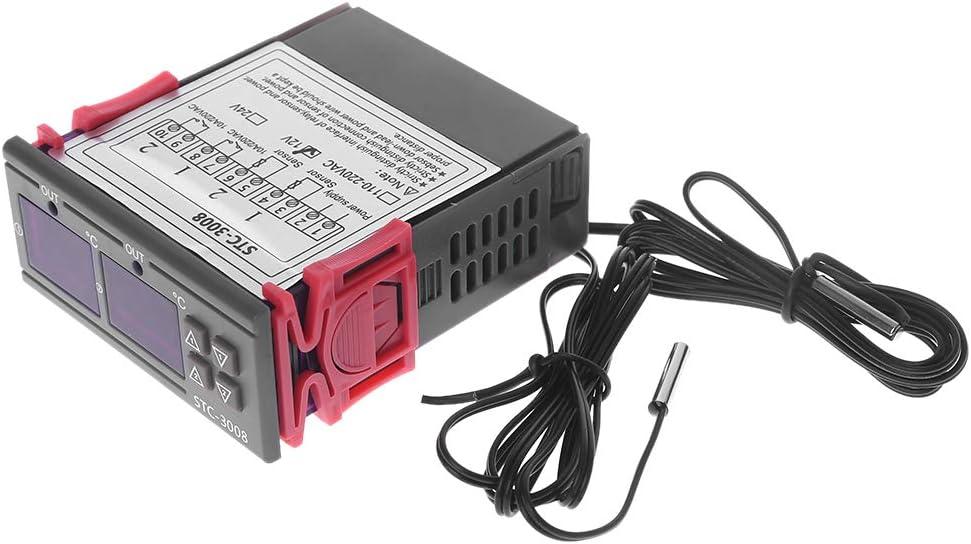 A0127 Digitaler Temperaturregler Doppelthermostat Heizung K/ühlung 10A AC110V 220V