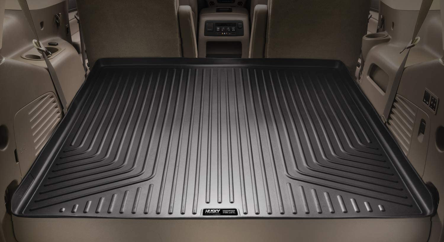 Husky Liners Fits 2013-19 Lexus LX570 with 3rd Row Seats Cargo Liner 2013-19 Toyota Land Cruiser
