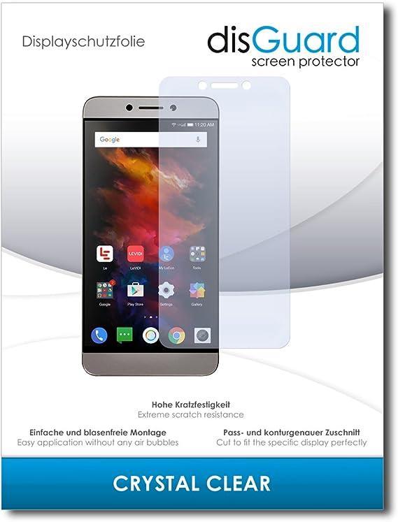 disGuard® Protector de Pantalla [Crystal Clear] compatibile con LeEco Le S3 [2 Piezas] Cristal, Transparente, Invisible, Anti-Arañazos, Anti-Huella Dactilar: Amazon.es: Electrónica