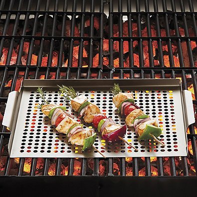 Nonstick Barbecue Grill Topper in Oil Rubbed Bronze