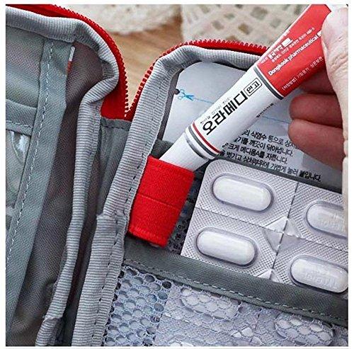 Mini bolsa médica Kit de primeros auxilios Bolsa de embalaje de drogas Viaje al aire libre Portable Red 5