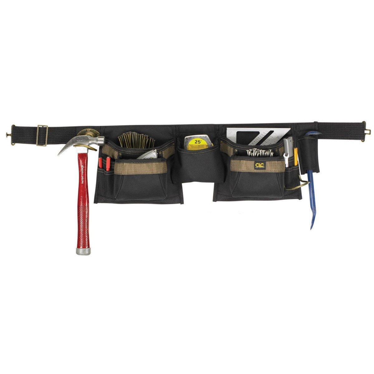 Clc Custom Leathercraft 1429 - 12 Pocket Black Carpenter`s Work Apron Tool Belt