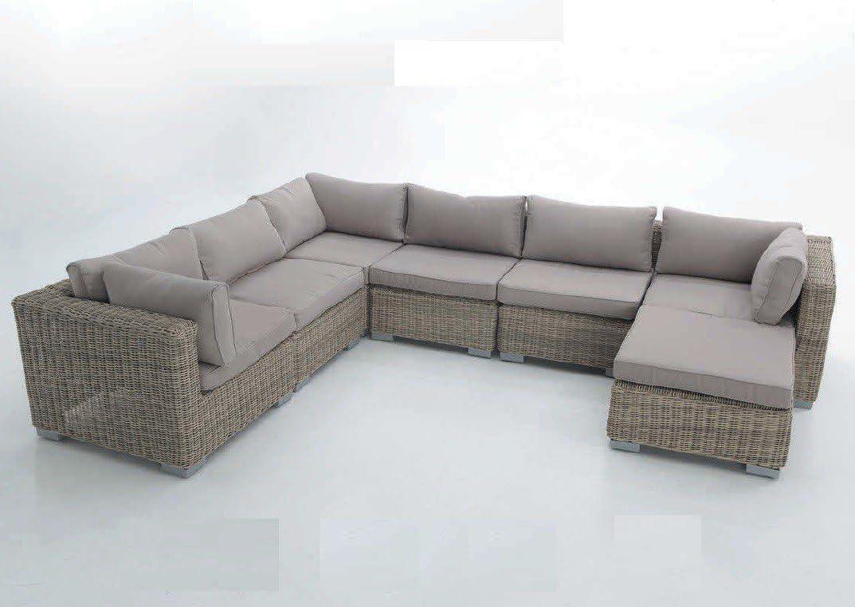 Sofa Modular Java. Compuesto por 3 módulos centrales, 1 Ottoman y 3 módulo rinconera: Amazon.es: Hogar