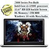 Dell Inspiron 7000 Series 15.6 Touchscreen Pro Laptop Flagship Edition Intel i5-5200U 2.7Ghz 8G 1T HDD WIDI HDMI Backlit Keyboard MaxxAudio 802.11AC Windows 10 Silver