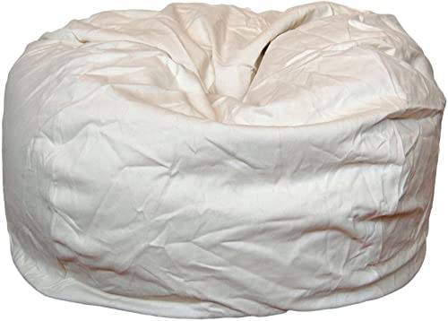 Ahh Products Cotton Washable Bean Bag, Natural Cream, Large