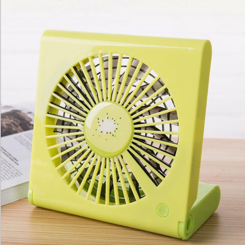 Color : A ZWS Portable Fan Fashion USB Charging Fan Notebook Folding Fan Mini Portable Silent Fan Student Dormitory Bed Outdoor Travel Family Mini Fan Heat Dissipation