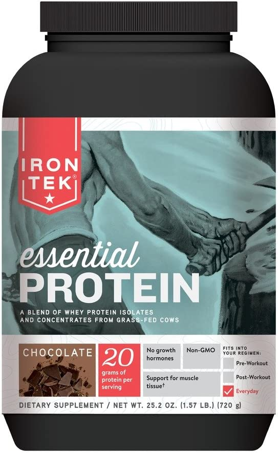 Iron Tek Essential Natural High Protein, Chocolate 1.57 lb 720g