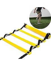 Ladder 6m 5m Skl 10pioli, 12pioli, per allenamento agilità Ladder per calcio Speed pallacanestro, calcio fitness piedi allenamento con Carry Bag–15metri, 6M 12 Rung
