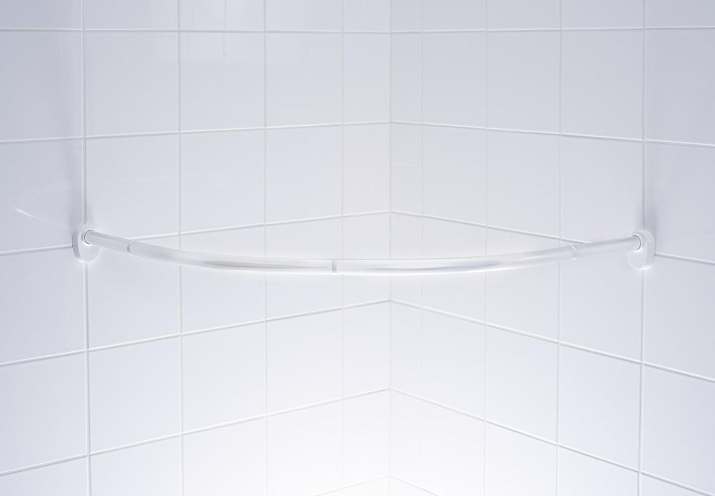 RIDDER 59400-350 Rundduschstange Aluminium Bogenduschstange /Ø 25 mm Duschvorhangstange chrom