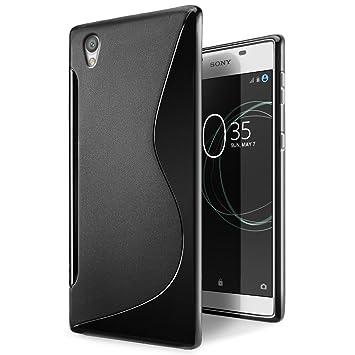 SLEO Funda Sony Xperia L1, Slim Fit TPU Carcasa de Parachoques Case Traslúcido Suave con Absorción de Impactos y Resistente a los Arañazos para Sony ...
