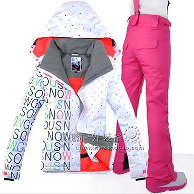 Veste De Ski Femme avec Un Pantalon, Veste De Ski Thermique