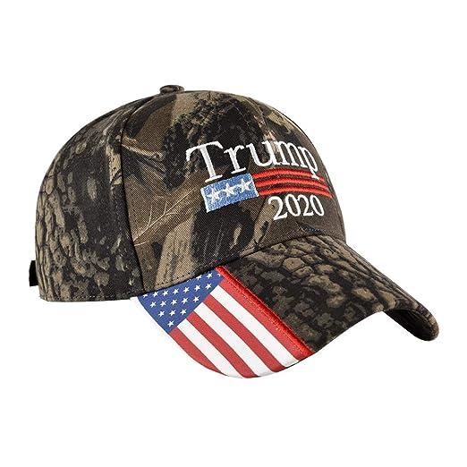 FENICAL Gorra de b/éisbol Bandera Estadounidense 2020 Trump Patr/ón Gorra para Exteriores Sombrero Ajustable Algod/ón Lavado para Mujeres Hombres