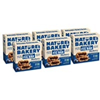 Nature's Bakery Gluten Free Fig Bars, Blueberry, Real Fruit, Vegan, Non-GMO, Snack bar, 6 boxes with 6 twin packs (36…
