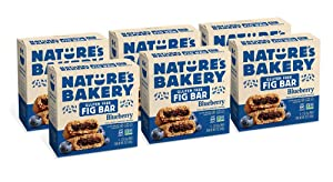 Nature's Bakery Gluten Free Fig Bars, Blueberry, Real Fruit, Vegan, Non-GMO, Snack bar, 6 boxes with 6 twin packs (36 twin packs)
