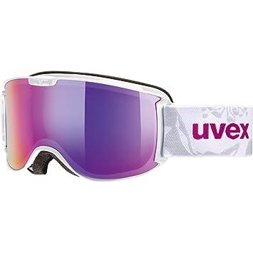 uvex skyper FM, white/ double lens zyl. litemirror green, -